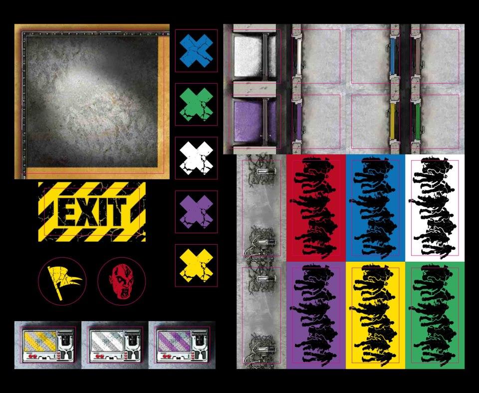 Prison outbreak planche de jetons zombicide fan site for Porte zombicide