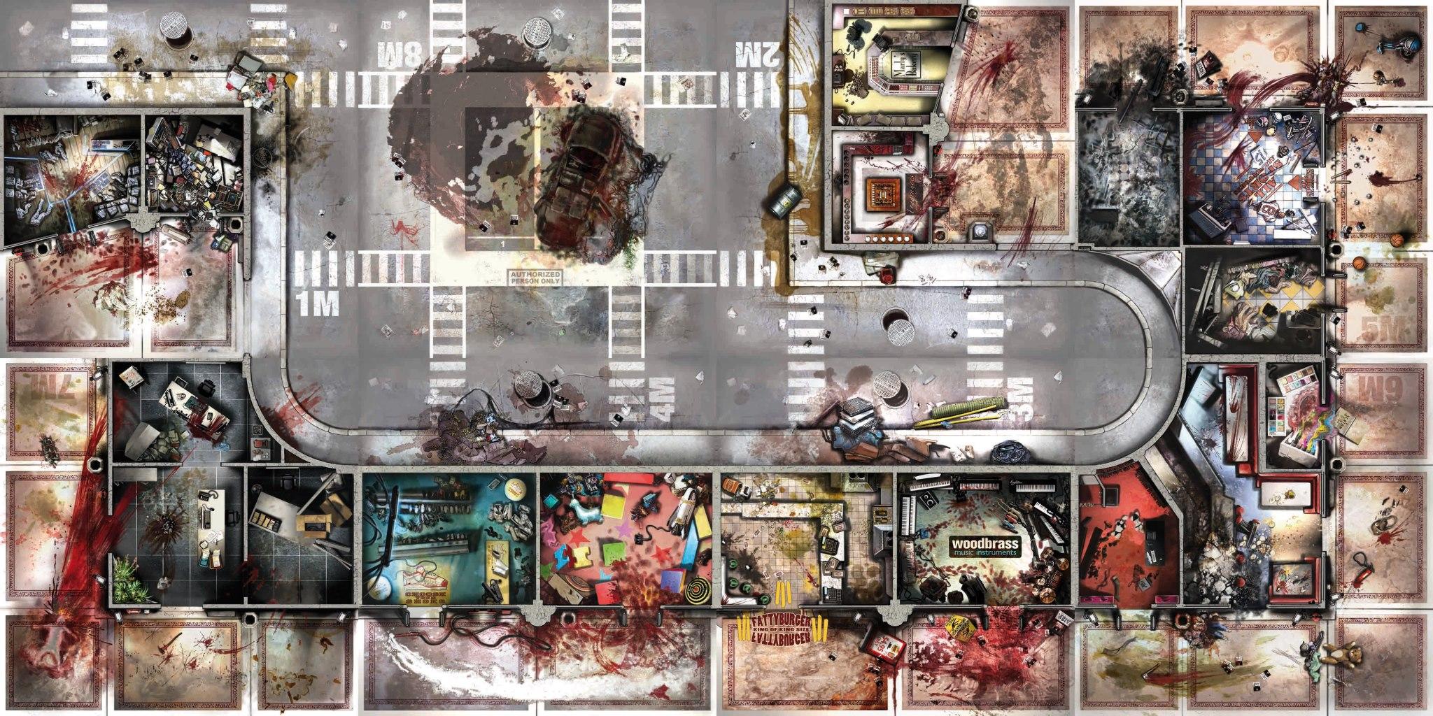 Toxic City Mall Toutes Les Dalles Zombicide Fan Site