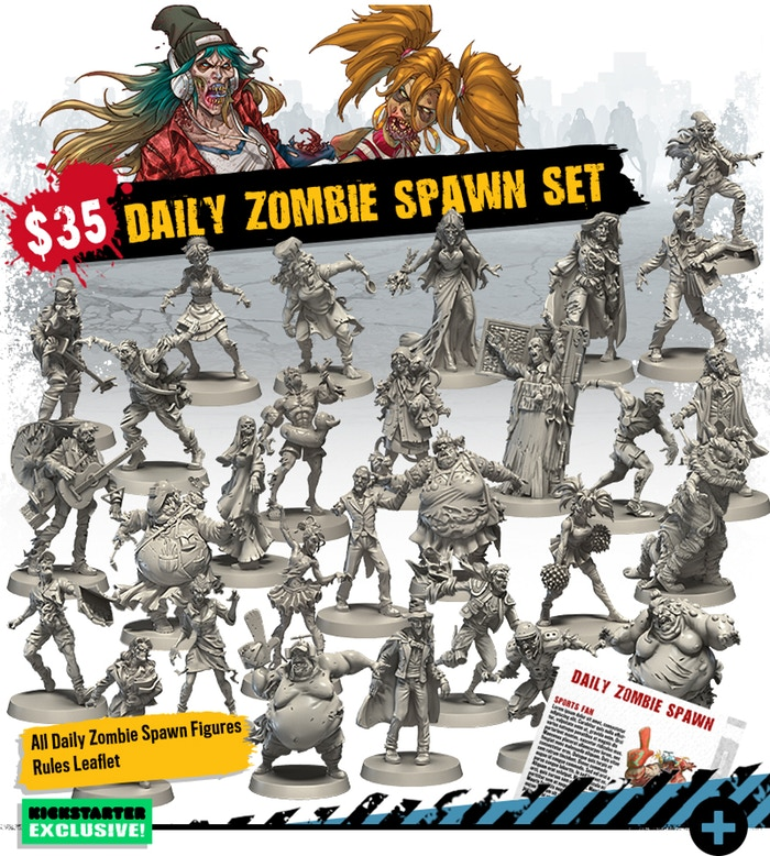 Kickstarter Zombicide Second Edition : Les Options